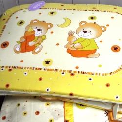 Комплект постельного белья в кроватку НИКА_МИШКА НА ПОДУШКЕ (бежевый) из 7 элементов
