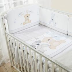 Постельное бельё в кроватку Венеция Три Друга. Комплект из 3 предметов