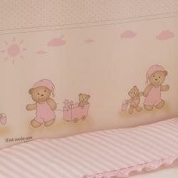 Постельное бельё в кроватку Тиффани. Неженка Розовая. Комплект из 7 предметов