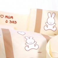 Постельный комплект в кроватку Tuttolina Rabbit персиковый 7 предметов