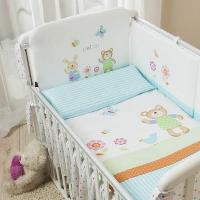 Постельное бельё для новорожденных Perina Глория. Hello. Комплекты из 4 или 6 предметов