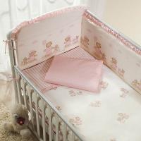 Постельное бельё в кроватку Тиффани. Неженка Розовая. Комплект из 6 или 4 предметов