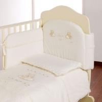 Постельный набор в кроватку Italbaby Love beige 5 элементов