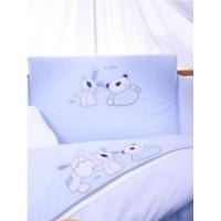 Постельный комплект в кроватку Tuttolina Animals голубое 7 предметов
