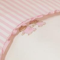 Постельное бельё в кроватку Тиффани. Неженка Розовая. Комплект из 3 предметов