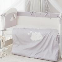Постельное бельё в кроватку Perina Бамбино. Комплект из 6 или 4 предметов.
